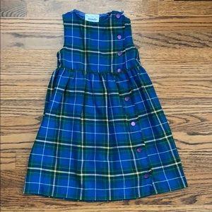 Adorable Vintage girls tartan plaid dress size 5